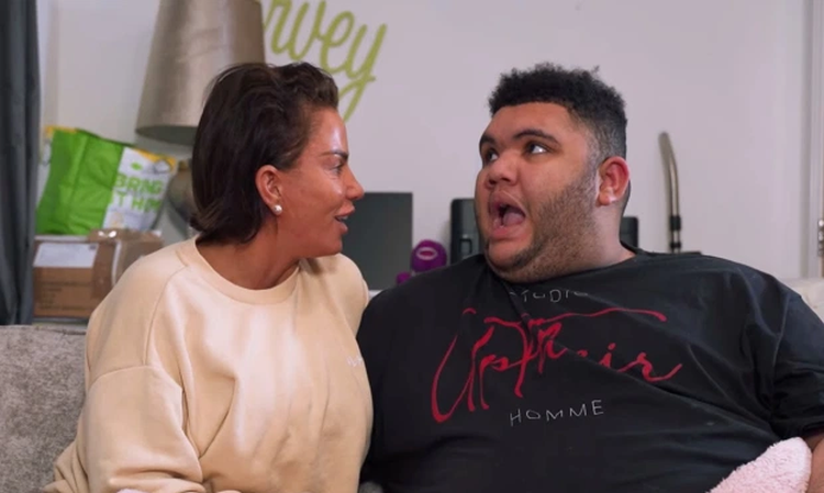 The special moment Katie Price tells Harvey he'll be making train announcements for Network Rail