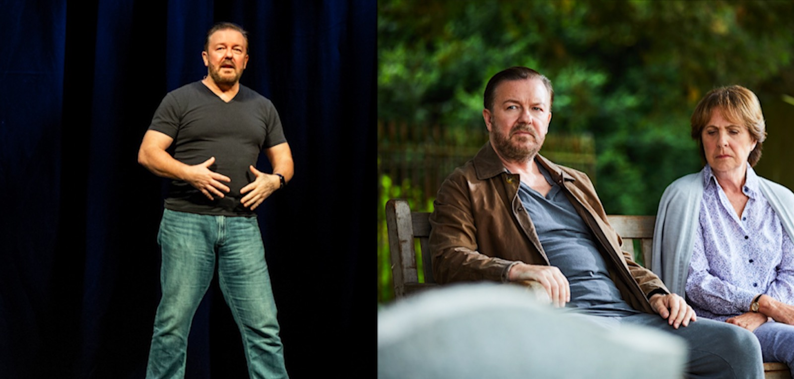 Ricky Gervais discusses his offer to do a stand-up show in Space